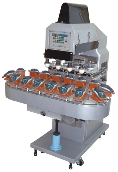四色墨杯式移印機+16站輸送帶-HA-640PC