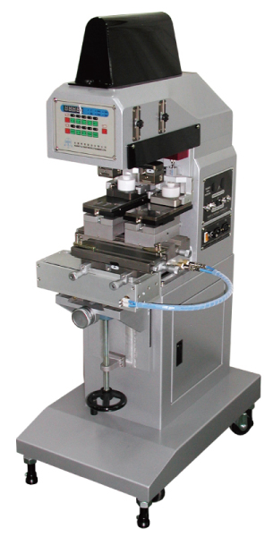小型雙色墨杯式移印機+橫向左右推送裝置-HA-125PR