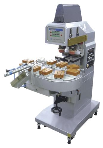 小型雙色墨盤式移印機+10站輸送帶-HA-125TACI